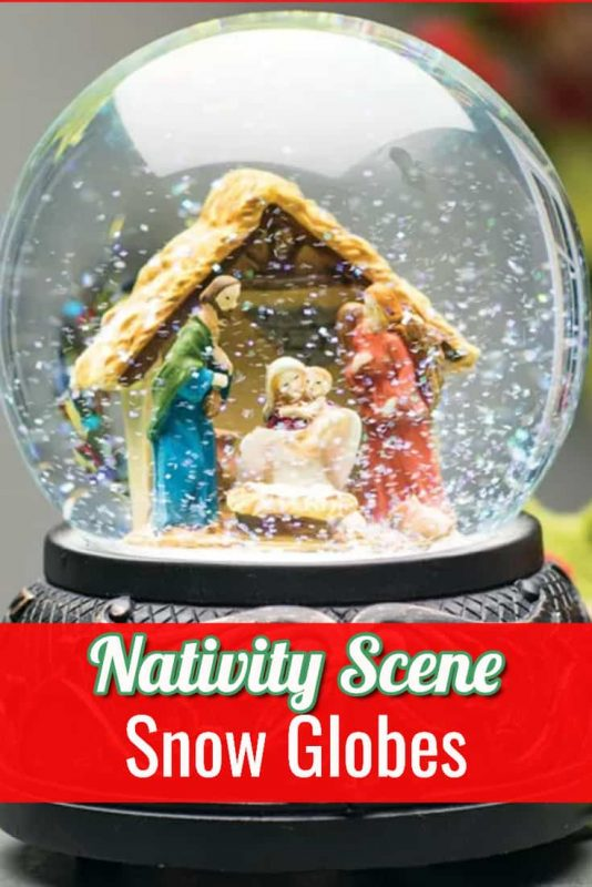 Nativity Scene Snow Globes with or without music